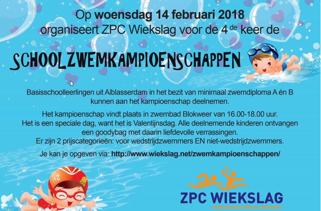 Schoolzwemkampioenschappen 2018